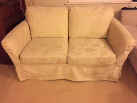 2 seater cream sofa bed for sale