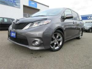 2011 Toyota Sienna SE 8 SEATS-LEATHER,SUN ROOF,WARRANTY,$16895