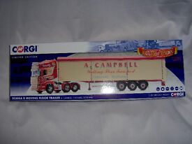CORGI MODERN TRUCK CC13753 CAMPBELL,CARSTAIRS SCANIA R MOVING FLOOR TRAILER SCALE 1:50