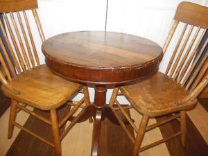Shaker box style table top table with claw feet, 2 wood chairs London Ontario image 4