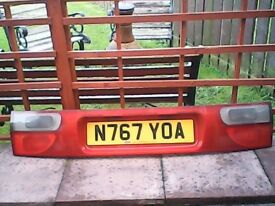 FORD GALAXY MK1 TAILGATE /NUMBER PLATE LIGHTING BOARD