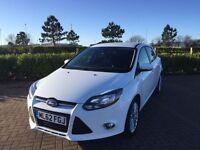 FORD FOCUS 1.6 ZETEC TDCI 5d 113 BHP (white) 2012