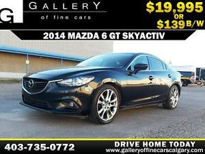 2014 Mazda 6 GT-SKY $139 bi-weekly APPLY TODAY DRIVE TODAY
