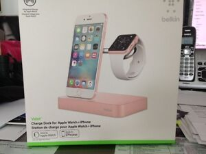 Brand new Belkin Valet charging dock for iphone and iwatch Rose