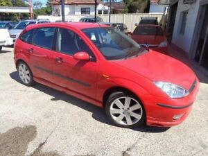 2003 Ford Focus LR Zetec Red 5 Speed Manual Hatchback Sylvania Sutherland Area Preview