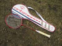 Black knight BK 7805 bedminton racket.  Tempered steel shaft. Le