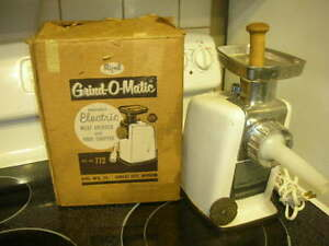 RIVAL Model 772 ELECTRIC MEAT GRINDER & CHOPPER