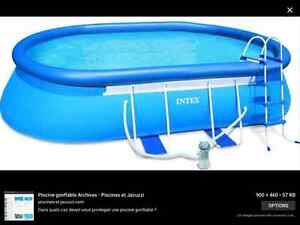 Piscine gonflable ovale 20 pieds