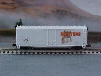 N scale model railroad train custom Hooters 40' boxcar beer