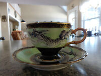 SHAFFORD Japan, Dragon Embossed Cup and Saucer