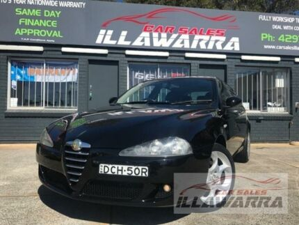 2006 Alfa Romeo 147 MY2005 Selespeed Black 5 Speed Seq Manual Auto-Clutch Hatchback Barrack Heights Shellharbour Area Preview