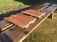 Marley concrete roof tiles 330mm x 410mm - Unused £0.70 each or deal for job lot