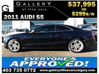 2011 Audi S5 4.2 COUPE AWD $299 bi-weekly APPLY NOW DRIVE NOW