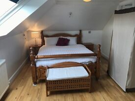 Large Double bedroom/sitting room with ensuite on its own floor with fantastic views