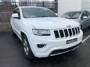 2014 Jeep Grand Cherokee WK MY2014 Overland White Sports Automatic Wagon Lansvale Liverpool Area Preview