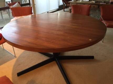 Round Wooden Dining Table (152 cm across) + 8 Dining chairs