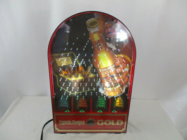 "Captain Morgan Gold Plinko Game Sign  LIGHT UP   20"" tall X 13"" wide"