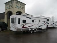 WOW!!! Sundance 32' Fifth Wheel with 3 Slides Rear Living!!!