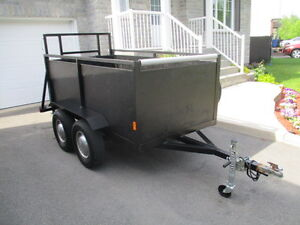 remorque / trailer 4'-1/2'' X 8'-1/2'' roues doubles. nego.