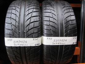 K85 2X 225/45/16 89W PIRELLI P7000 1X5,5MM 1X6MM TREAD