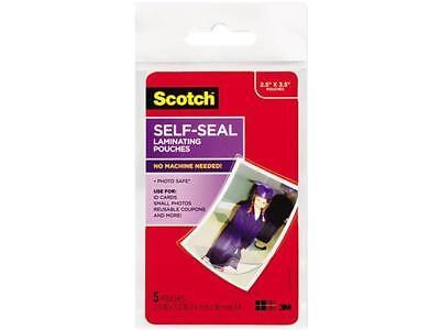 Pl903g Scotch Self-sealing Laminating Pouches Glossy 2 1516 X 3 1516 Wallet