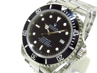 Auth ROLEX Sea-Dweller 16600 Black Silver Z139030 Men