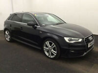 2014 Audi A3 2.0TDI 184 quattro Sportback Tronic S-Line BUY FOR ONLY £79 A WEEK