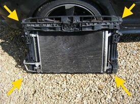 GOLF MK7 1.6 TDI BLUEMOTION front panel radiator pack intercooler fan A3 8V seat GENUINE ORIGINAL