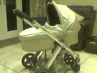 OYSTER FOR SALE, CHASTE CARRY COT, BUGGY, RAIN-COVERS N MAXICOSI ADAPTERS, JUST £95!!