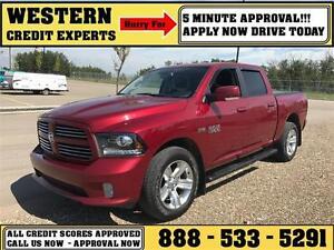 2014 Ram 1500 Sport 4x4 LOADED ~ 5 Minute Approval $245 B/W