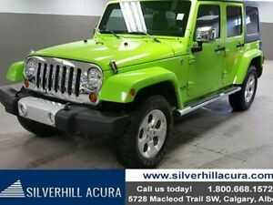 2013 Jeep Wrangler Unlimited Sahara 4dr 4x4 *Local 1 Owner,Leath