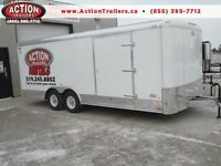 ENCLOSED CAR HAULER/CARGO TRAILER TO RENT 8.5 X 20 - $99.99