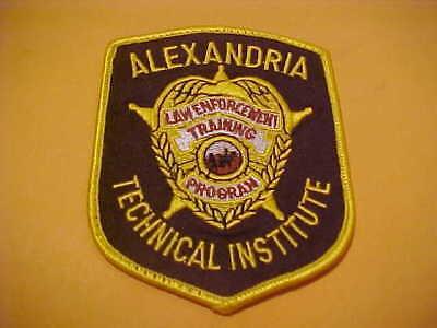 ALEXANDRIA MINNESOTA TECHNICAL INS. PROGRAM POLICE PATCH SHOULDER SIZE USED