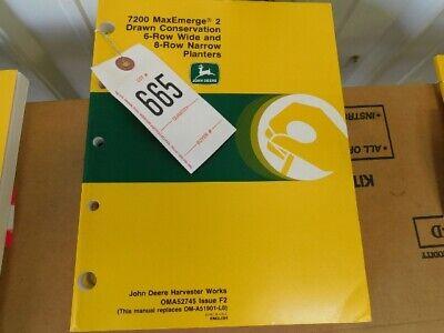 3 John Deere 7200 Max Emerge 2 6 8 Row Planter Operators Manual Tag 665