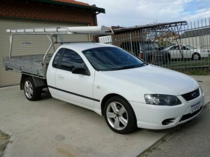 2007 Ford Falcon BF Mk II XLS Ute Super Cab White 4 Speed Sports Automatic Utility Mount Lawley Stirling Area Preview