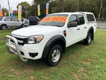 2010 Ford Ranger PK XL (4x4) White 5 Speed Manual Dual Cab Pickup Clontarf Redcliffe Area Preview