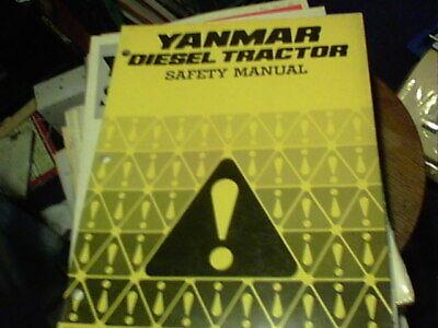 Yanmar Diesel Tractor Safety Manual