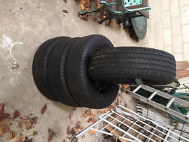 4 x Yokohama Geolandar G91 Tyres. 225/65 R17 102H. Tread 5mm approx. 6000 miles