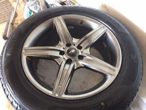 set of 4winter tires and rims 2012 mercedes GL 350.255/55/19