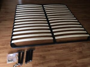 King Size Bed Frame / Platform, Wooden Slats. Nearly New!