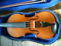 viola by Schroetter, 15.5 inches back, excellent condition, good rich sound