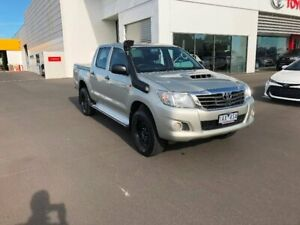 2013 Toyota Hilux KUN26R MY12 SR (4x4) Sterling Silver 4 Speed Automatic Dual Cab Pick-up Sale Wellington Area Preview