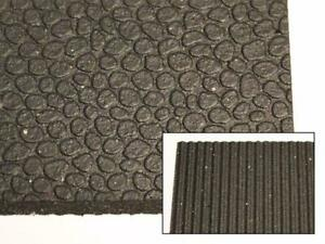 Quality Revulcanized Rubber Mats - 4 x 6 x 1/2 - For Anti-Fatigue, Work Areas, Rooftops, Construction and more!