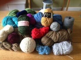 Vintage wool and yarn