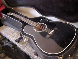 Yamaha FGX-412C BL Acoustic Electric Guitar w/Case