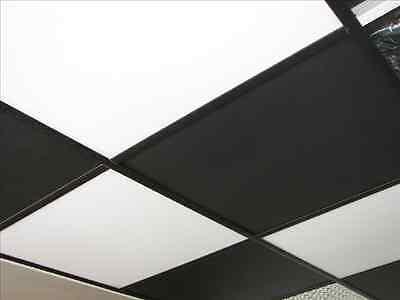 Washable Pvc Ceiling Tiles - Ecotile Smooth 2 X 2 Black Drop Tile Mold Free