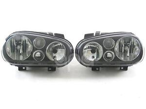 DEPO VOLKSWAGEN GOLF GTI R32 VR6 337 TDI CABRIO 99-05 EURO BLACK HEAD LIGHT SET