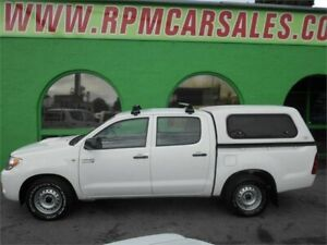 2008 Toyota Hilux KUN16R 08 Upgrade SR White 5 Speed Manual Dual Cab Pick-up Nailsworth Prospect Area Preview