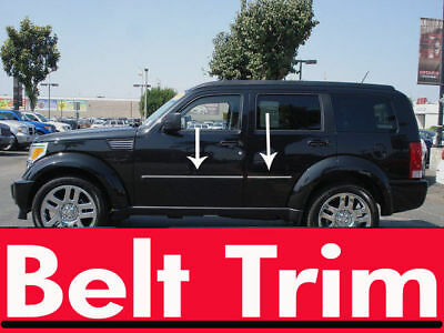 Dodge NITRO CHROME SIDE BELT TRIM DOOR MOLDING 2007 2008 2009 2010 2011