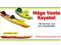 NEUF! KAYAKS RECREATIF EN LIQUIDATION!!
